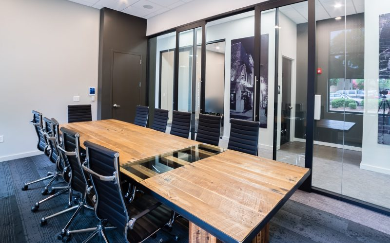 Crunkleton Commercial real estate environment and custom conference room table
