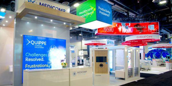 Medicomp Trade Show Exhibit reception counter