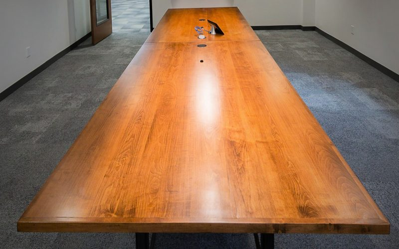 Simple Helix Environment millwork conference room table